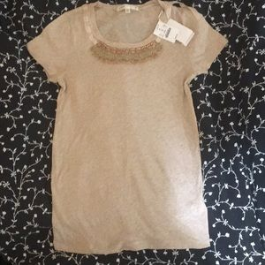 J. Crew beige top with tags attached!
